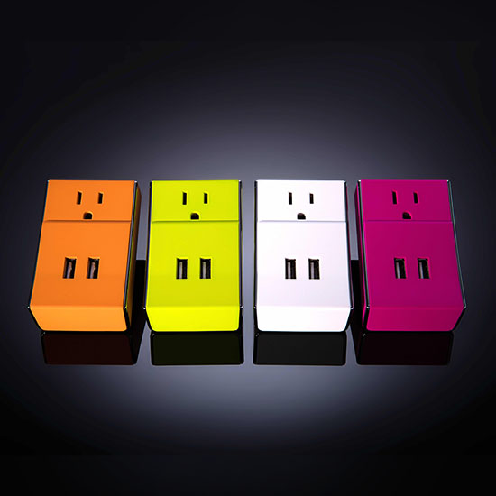 WALLY Dual USB Wall Charger + Standard Power Outlet